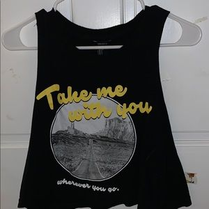 forever 21 graphic tank top